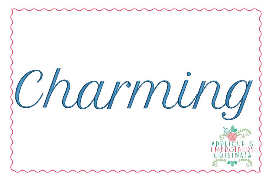 340 Charming Script Embroidery Font Applique Embroidery Originals