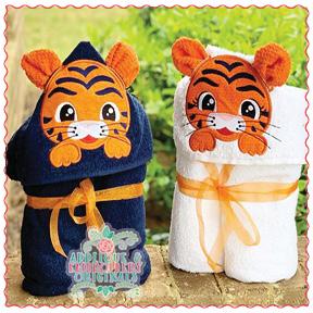 Tiger hooded towel