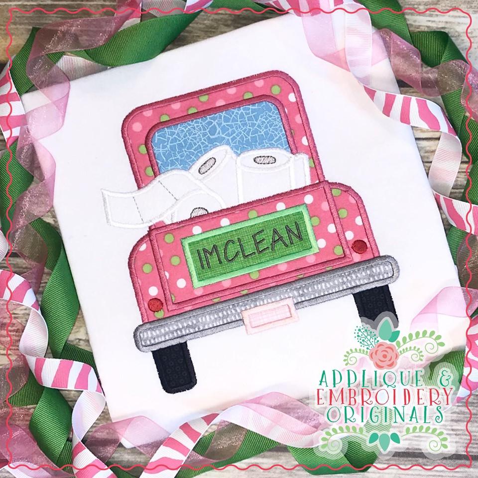 2553 Truck Toilet Paper Applique Design Applique Amp Embroidery Originals